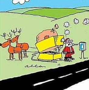 Drawn santa broke Santa Funny Sleigh Sleigh Christmas