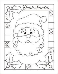 Drawn santa child printable Too this to cards fun