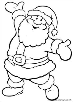 Drawn santa child printable Santa will gift November host