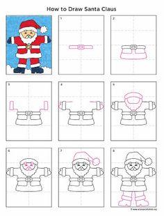 Drawn santa child printable Drawing Claus Santa and Directed