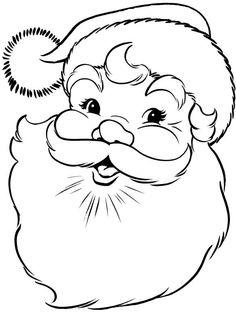 Drawn santa child printable (color Craft Printable de cara
