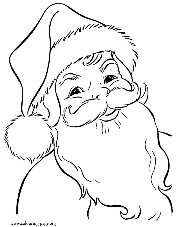 Drawn santa child printable Draw 20+ the page drawing