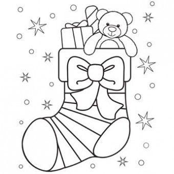 Drawn santa color #Christmas Pages images Pinterest 102