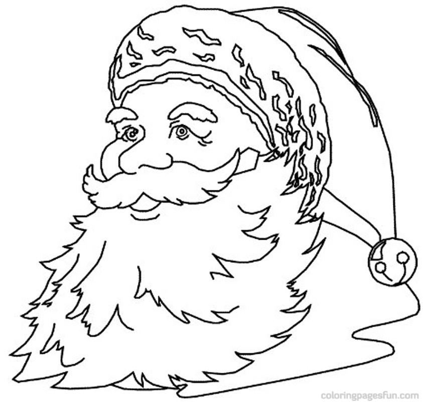 Drawn santa color Coloring Hand Holiday Coloring Coloring