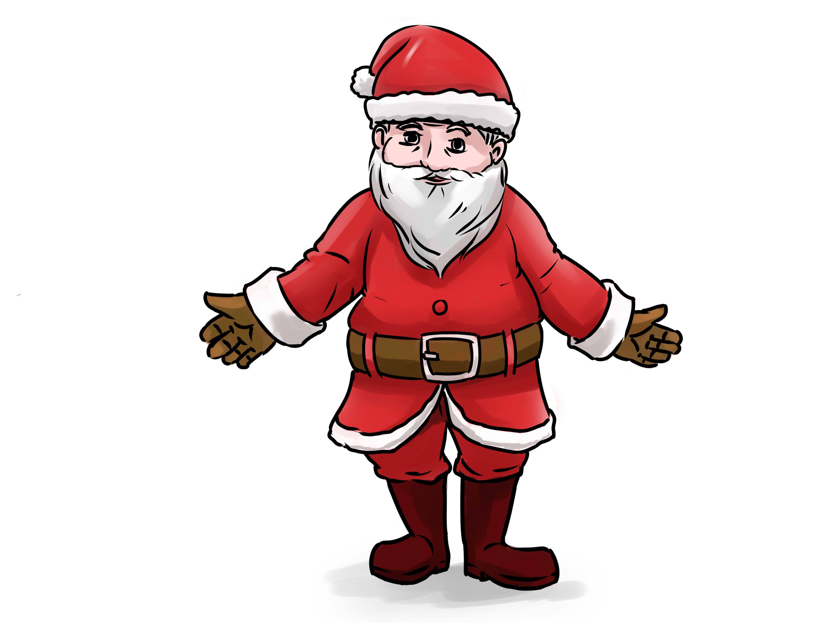 Drawn santa easy draw Santa Santa 14 step Claus