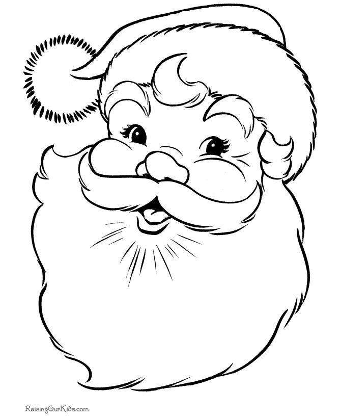 Drawn santa face Claus Pinterest  Gift Christmas