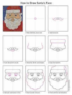 Drawn santa face Sailboat a How Draw to