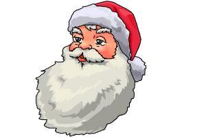 Drawn santa face A Face Draw Claus to