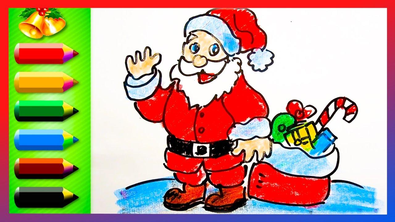 Drawn santa for kid santa  Santa for to Draw
