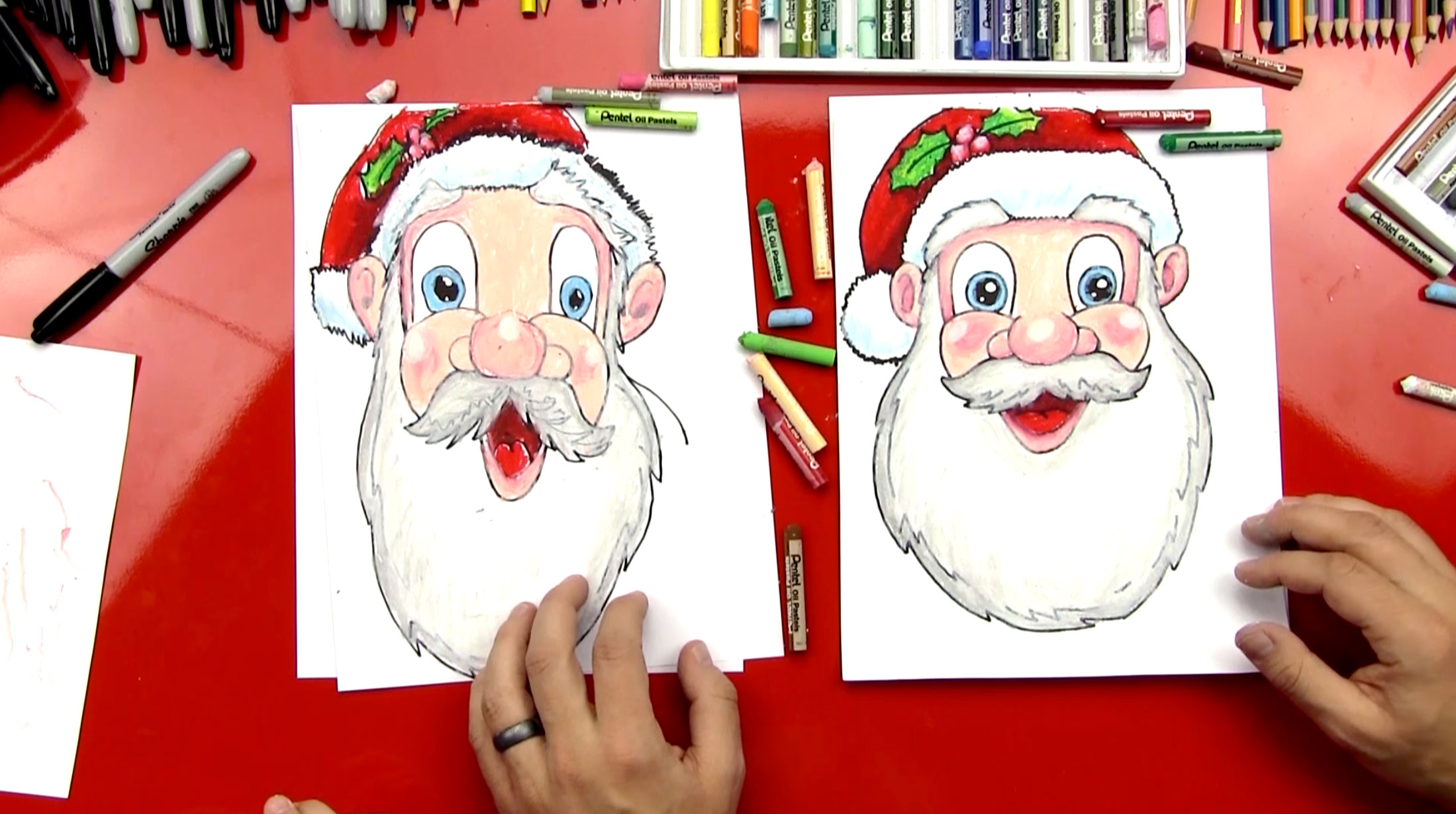 Drawn santa for kid santa How To Face Kids Claus's