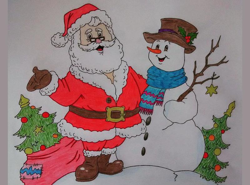 Drawn santa hard Premium Christmas Drawings 21+ Free