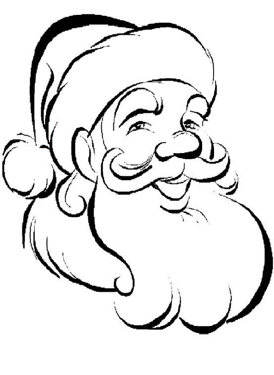 Drawn santa hard Print Santa to Colouring Kids