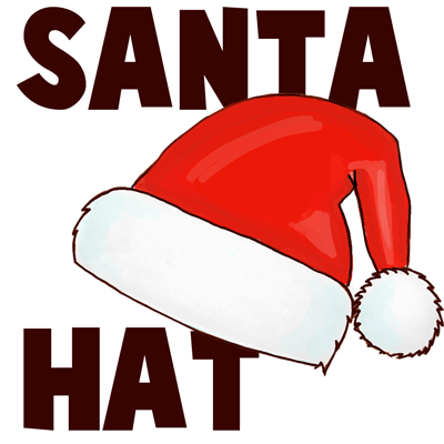 Drawn hat santa hat With How with  How