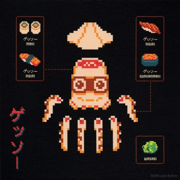 Drawn santa hat 8 bit Cooking recipes collection and 8bit