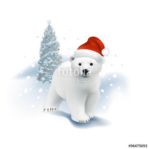 Drawn santa hat background  Hand Santa tree bear