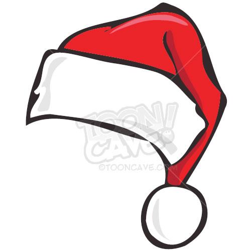 Drawn santa hat cartoon christmas Outline Santa clipart free Free