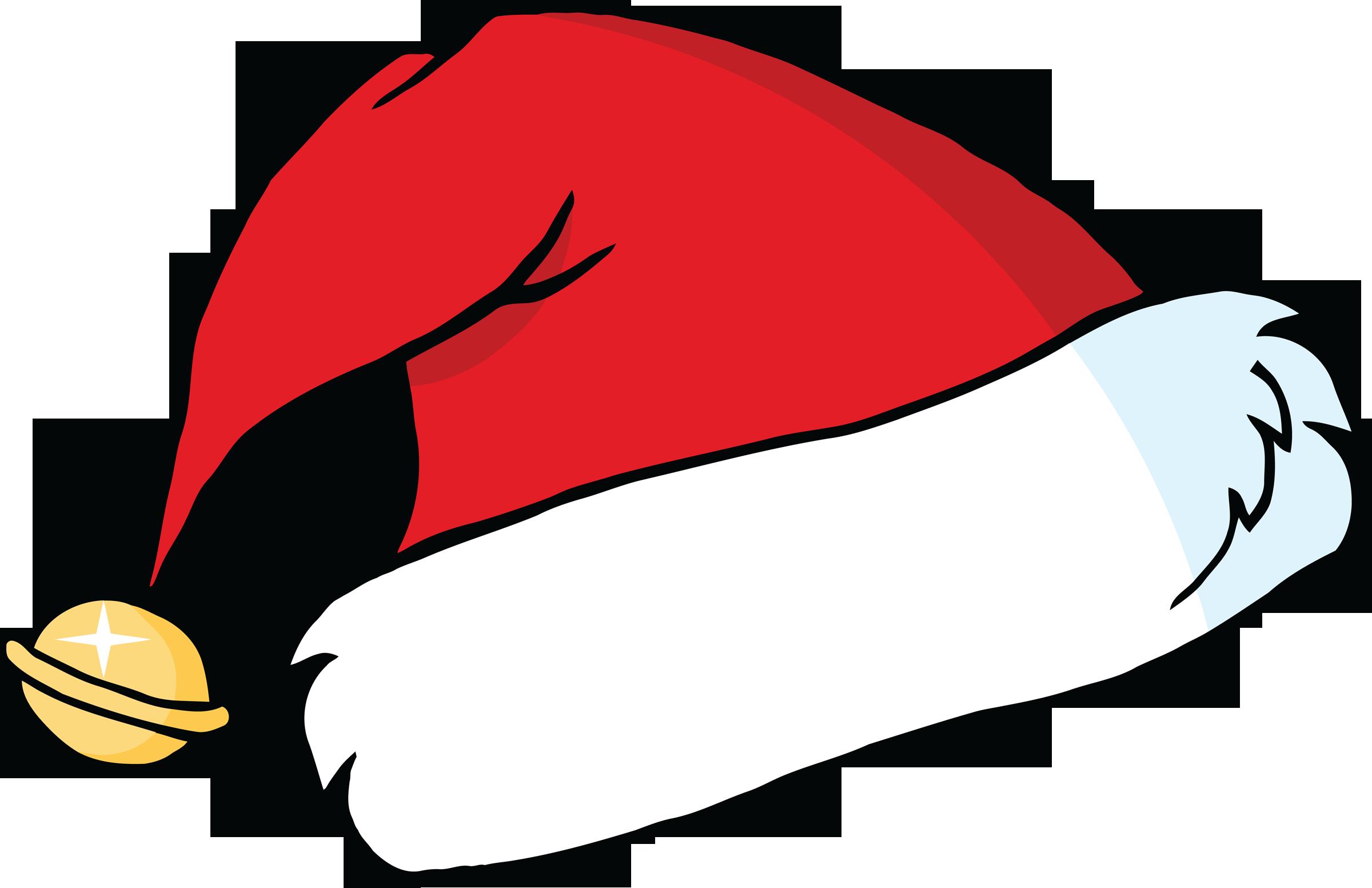 Drawn santa hat cartoon christmas Art  Santa free svg
