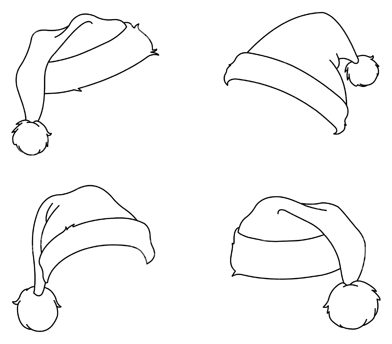 Drawn santa hat coloring On Coloring 01jpg Claus Pages
