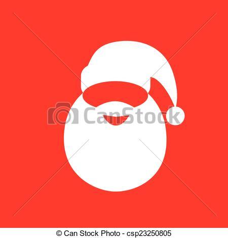 Drawn santa hat flat Hat vector design Vector beard