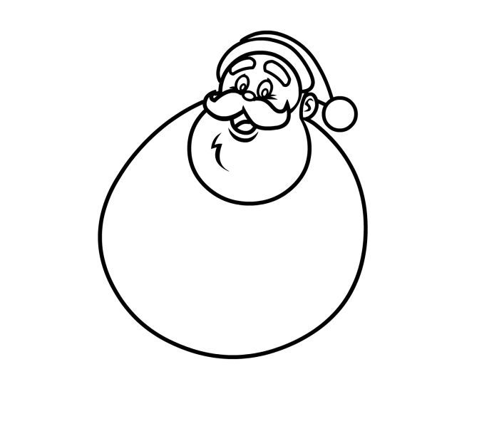 Drawn santa hat funny Drawing a How Draw Santa's