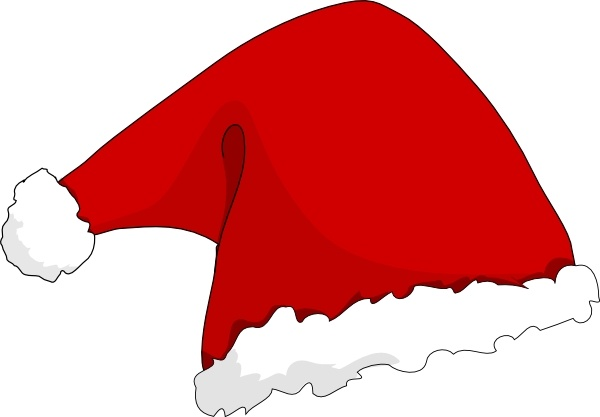 Drawn santa hat graphic Drawing art art Santa Free