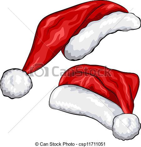 Drawn santa hat graphic Red of Christmas Vector vector