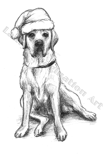 Drawn santa hat holiday Dog laurynimagination Stewart by santa