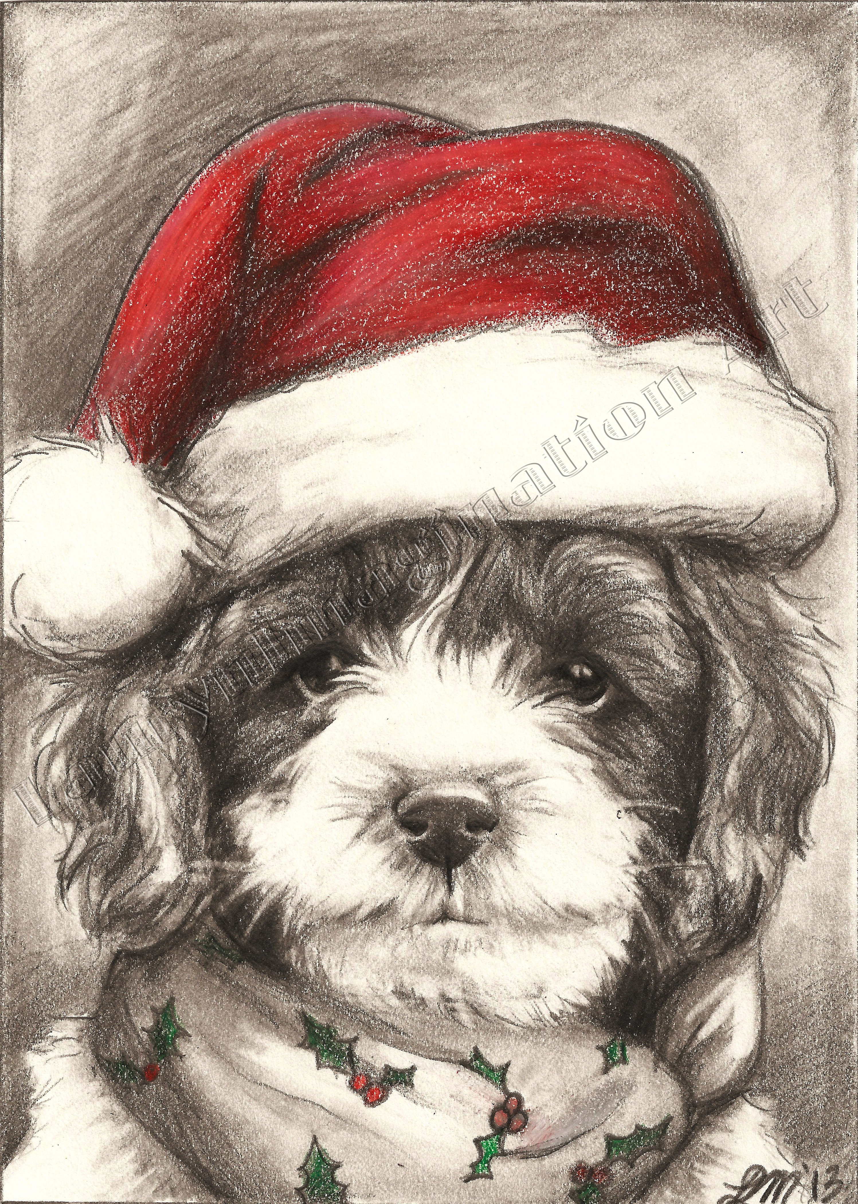 Drawn santa hat holiday Holidays Graphite by drawing Lauryn