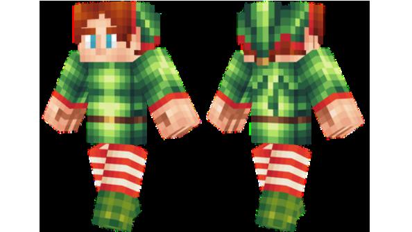 Drawn santa hat minecraft christmas Elf Minecraft Christmas Skin skins