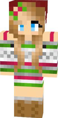 Drawn santa hat minecraft christmas Christmas girl Skins hat images