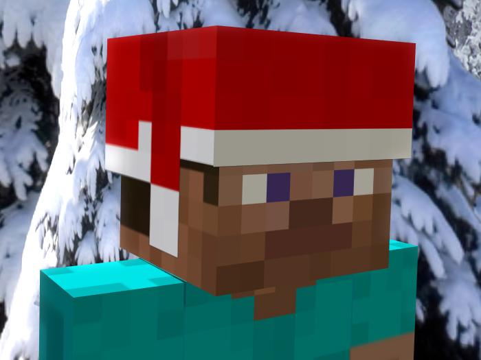 Drawn santa hat minecraft christmas  How Blog santafy to