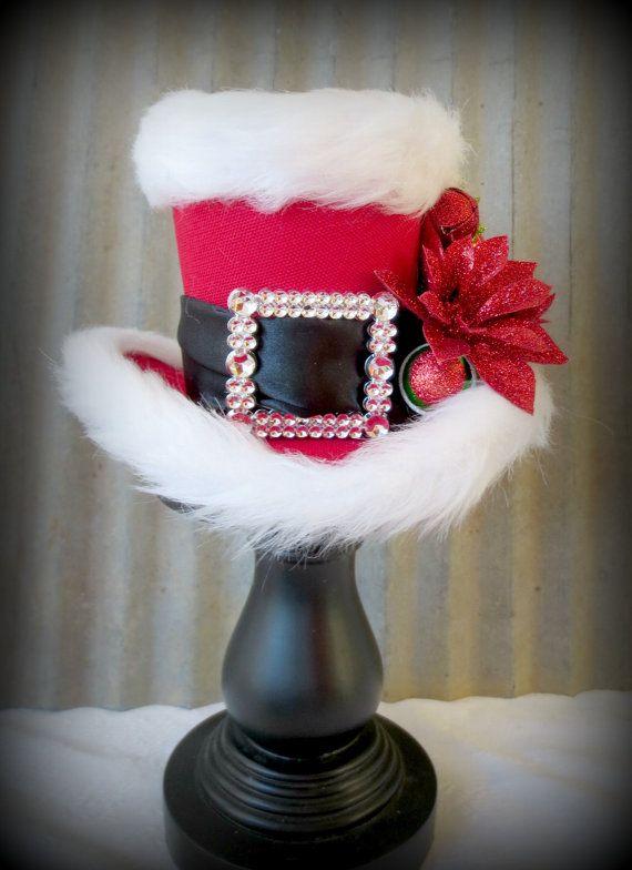 Drawn santa hat mini On Mini hats in Tea