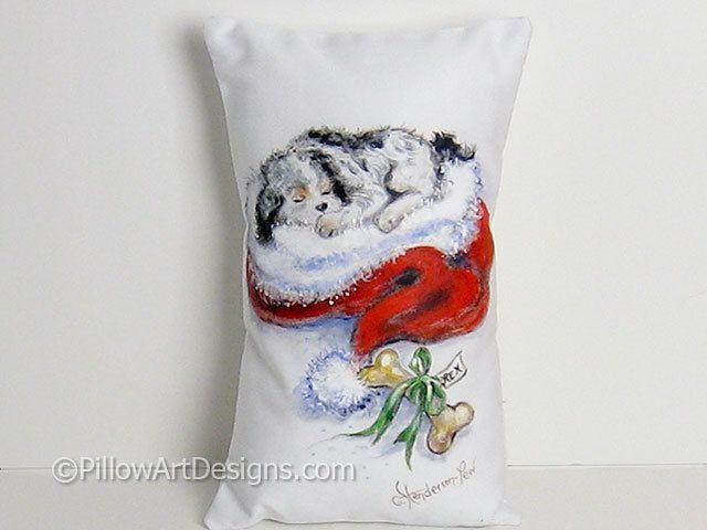Drawn santa hat mini Pillow Hat Dog Mini 12
