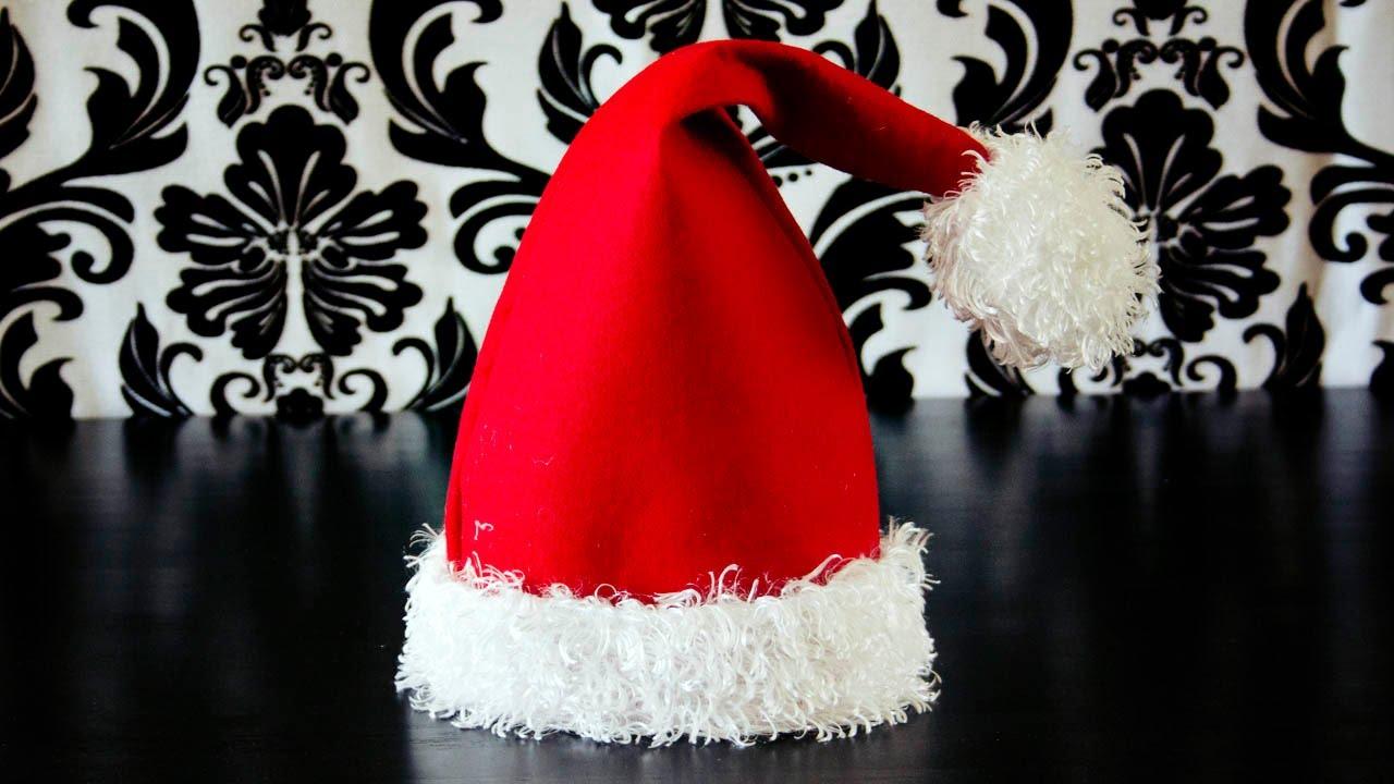 Drawn santa hat mini YouTube Santa  Make a