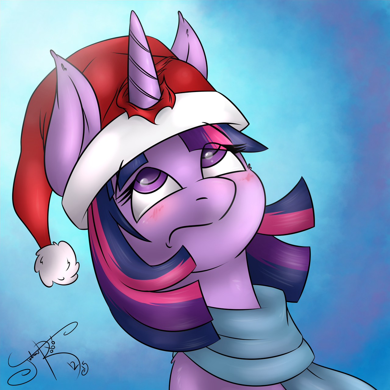 Drawn santa hat mlp Santa  by Dumb com