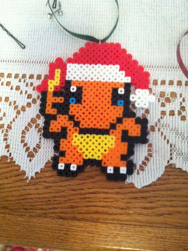 Drawn santa hat pixel POKEMON PIXEL from hat on