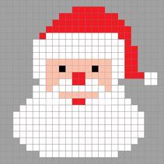 Drawn santa hat pixel Graph Christmas Crafter Pixel Crochet