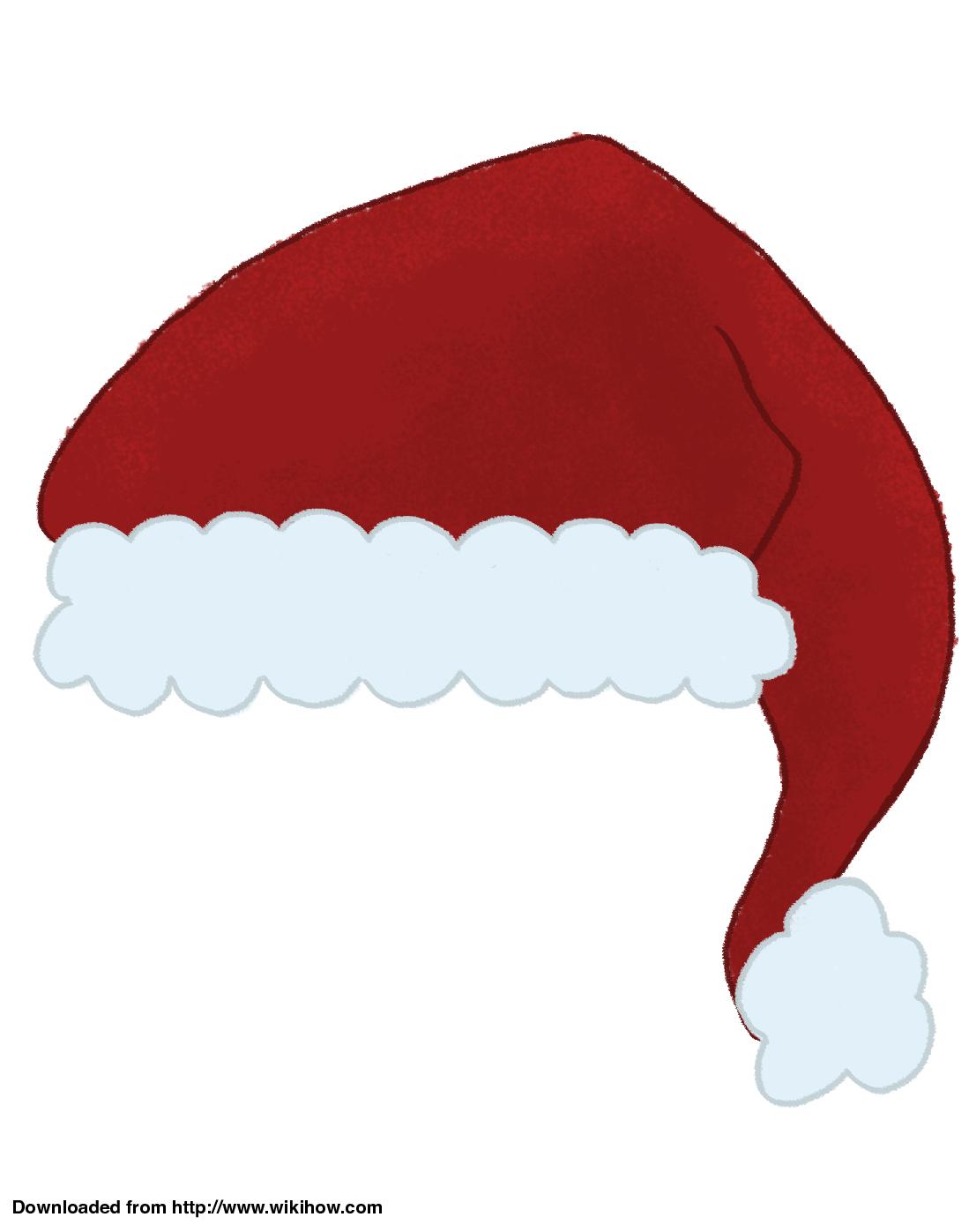 Drawn santa hat printable Hat Printable Hat Make Ways