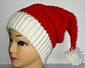 Drawn santa hat sanat Hat Crochet Etsy Hat Christmas