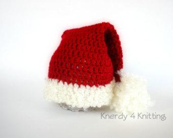 Drawn santa hat sanat Santa Crochet Etsy and Handmade