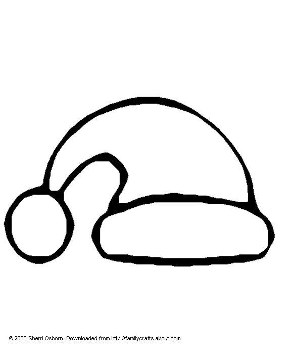 Drawn santa hat santa claus Large ideas house christmas pinterest