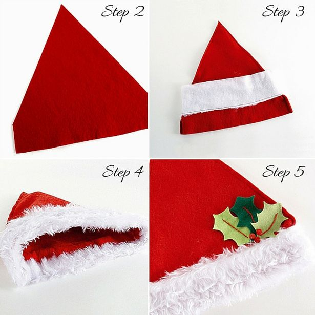 Drawn santa hat tiny Paper decoration how Christmas Online