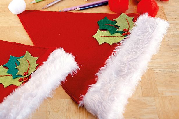 Drawn santa hat tiny DIY ideas to Easy Hat