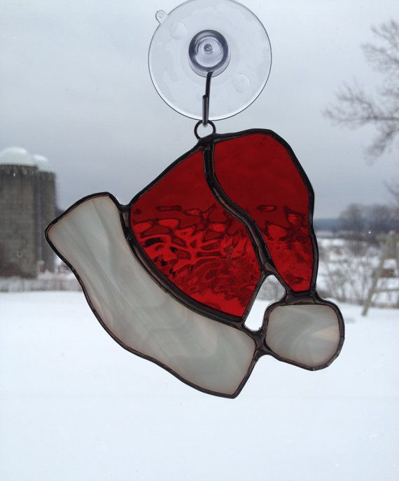 Drawn santa hat tiny Santa's 25+ ideas Glass Stained