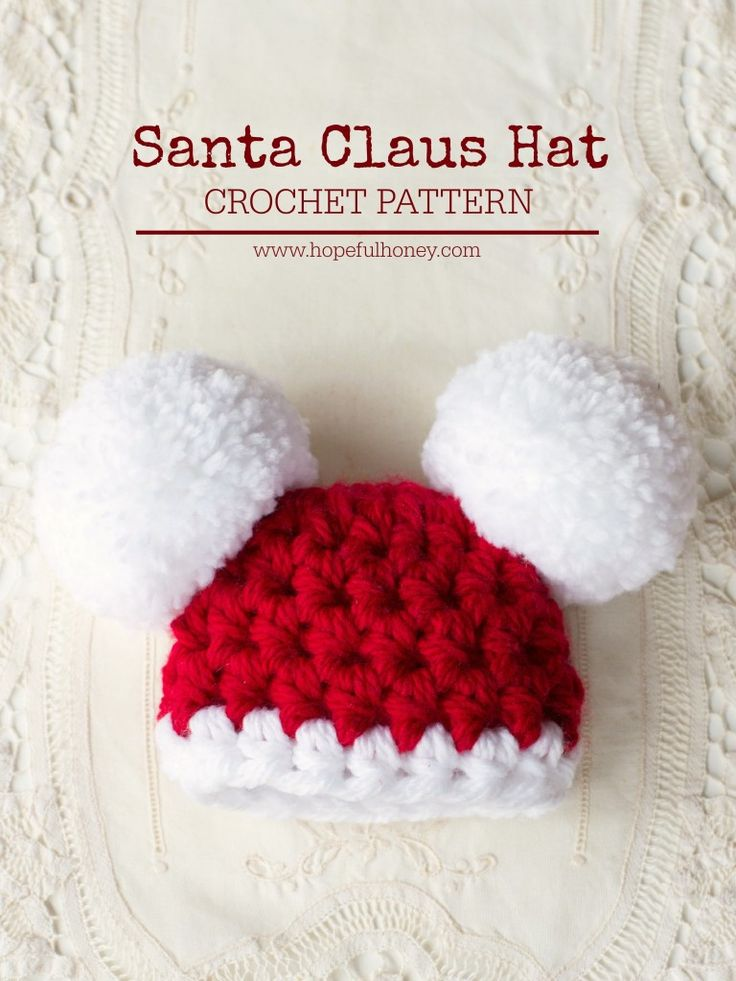 Drawn santa hat tiny Best Pompom Crochet Hopeful ideas