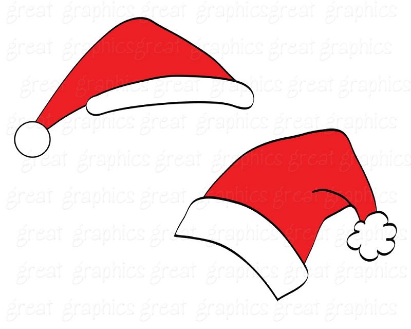 Drawn santa hat transparent Crafts Templates free for transparent