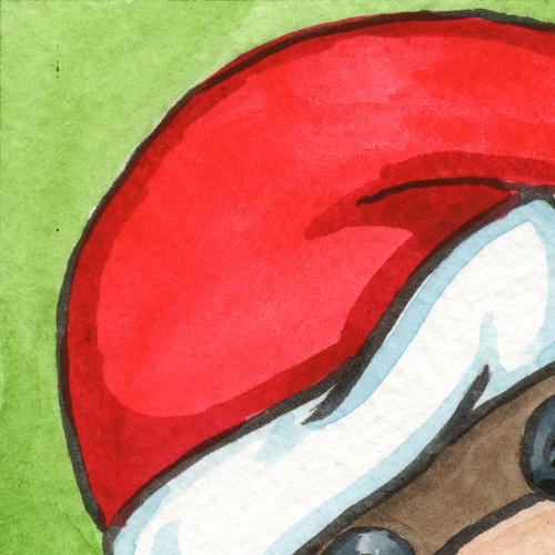Drawn santa hat watercolor Monkey festive  watercolor monkey