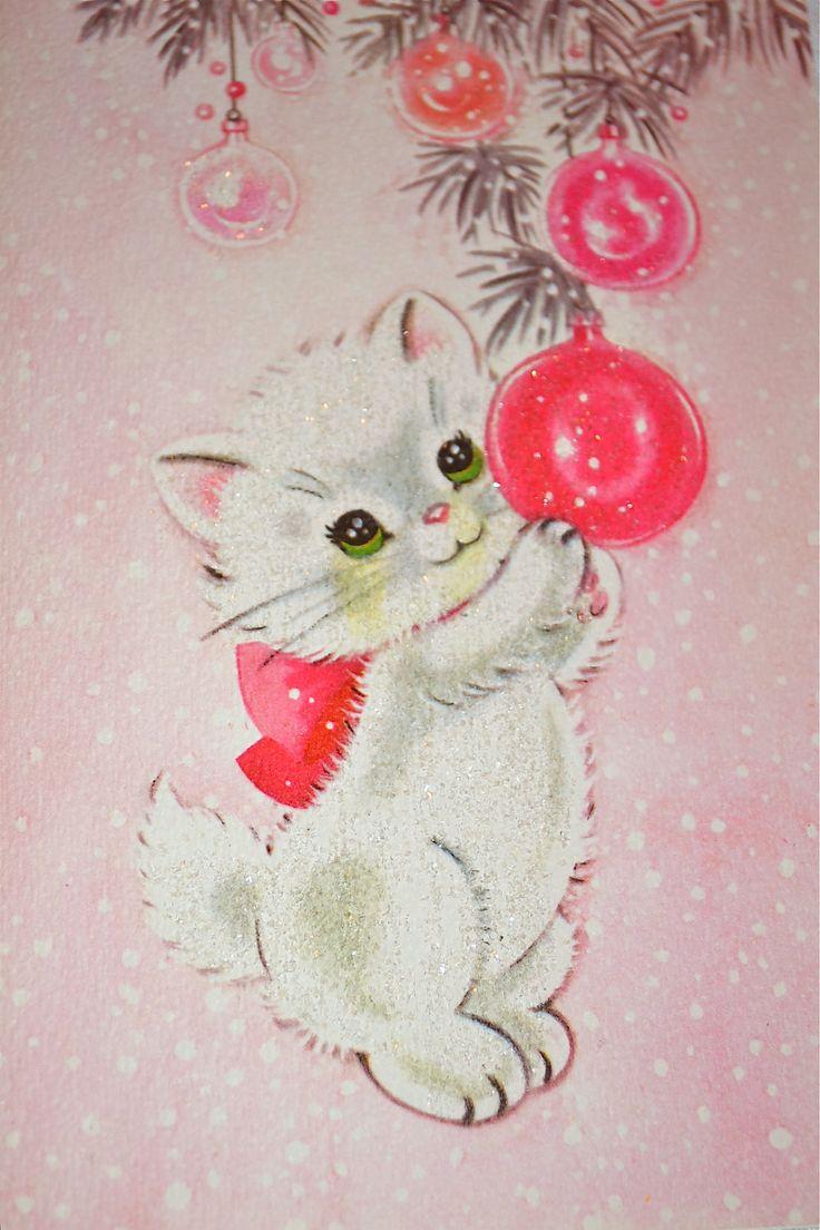 Drawn santa kitten On Hayslip Christmas  Pinterest