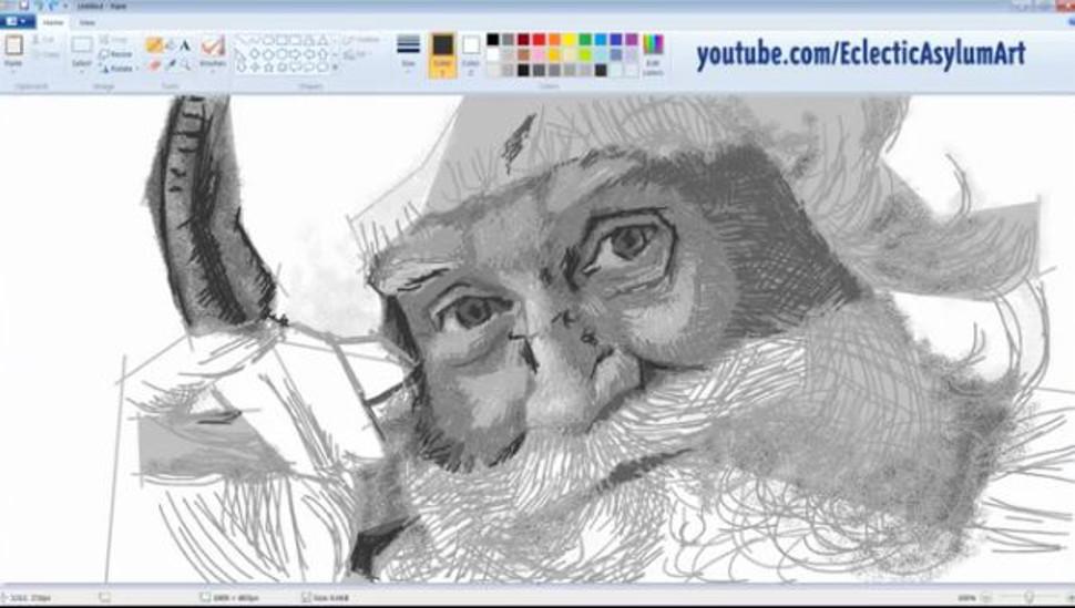 Drawn santa ms paint This Santa Watch believe believe