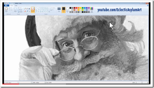 Drawn santa ms paint Your stocking image in Time